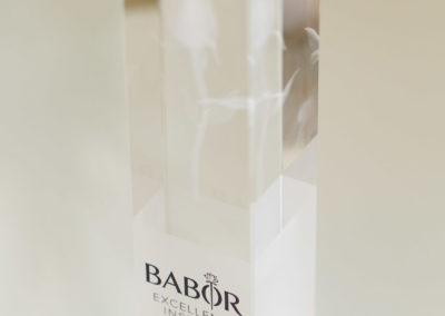 """Preis für die Auszeichnung als """"Babor Excellence Insitut"""""""